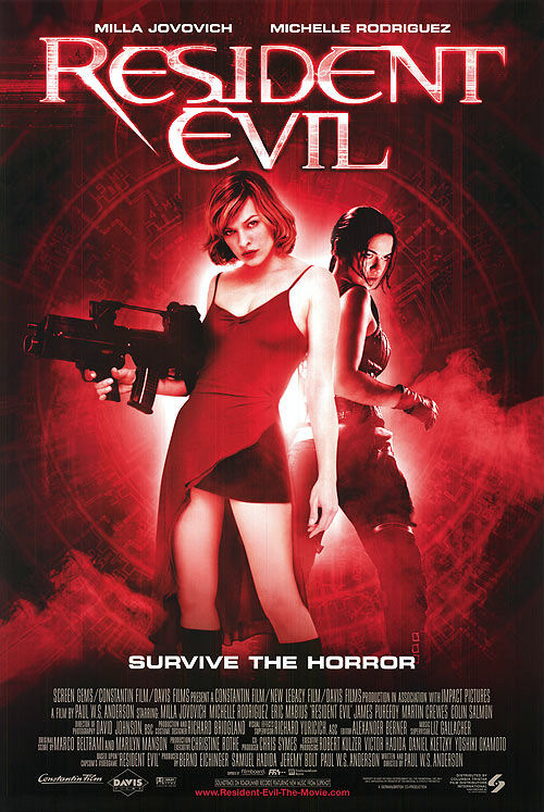 Resident Evil (2002) 01 Poster (WTF Watch the Film)