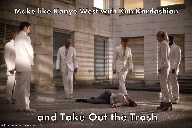 Make like Kanye West with Kim Kardashian and Take Out the Trash