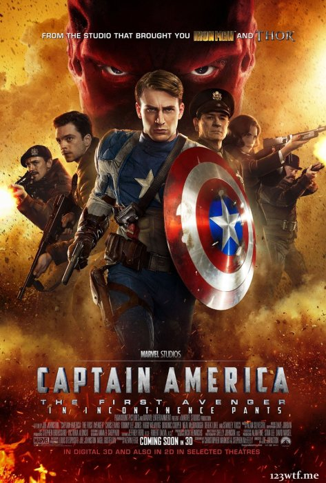 Captain America 01 poster (WTF Saint Pauly)