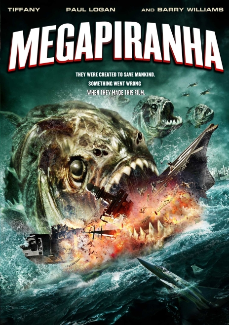 Mega Piranha 01 poster (WTF Saint Pauly)