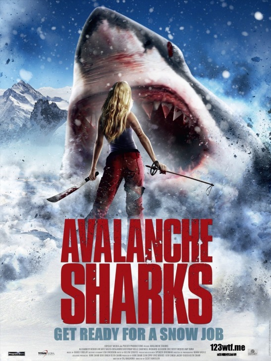 Avalanche Sharks 01 poster (WTF Saint Pauly)