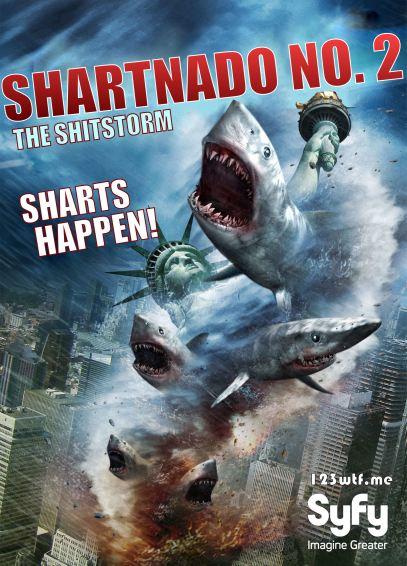 Sharknado 2 01 poster (Saint Pauly WTF)