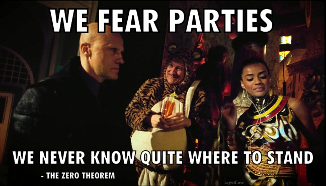 The Zero Theorem 31 meme parties(Saint Pauly WTF Watch the Film)