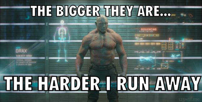 Guardians of the Galaxy 66 meme bigger (WTF Watch the Film Saint Pauly)