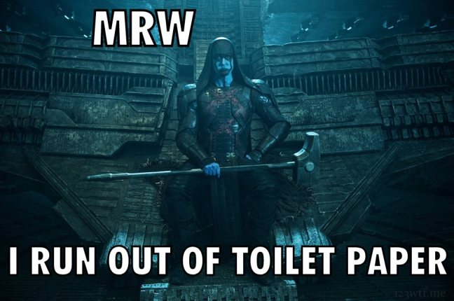 Guardians of the Galaxy 70 meme toilet paper (WTF Watch the Film Saint Pauly)