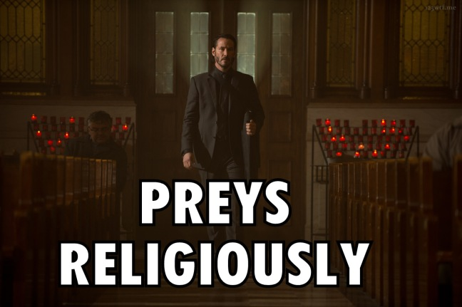 John Wick 25 meme preys religiously (WTF Watch the Film Saint Pauly)