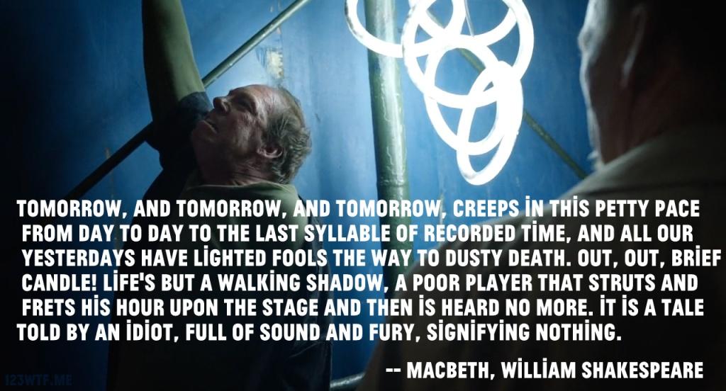 Birdman 21 SC Macbeth (Watch the Film WTF Saint Pauly)