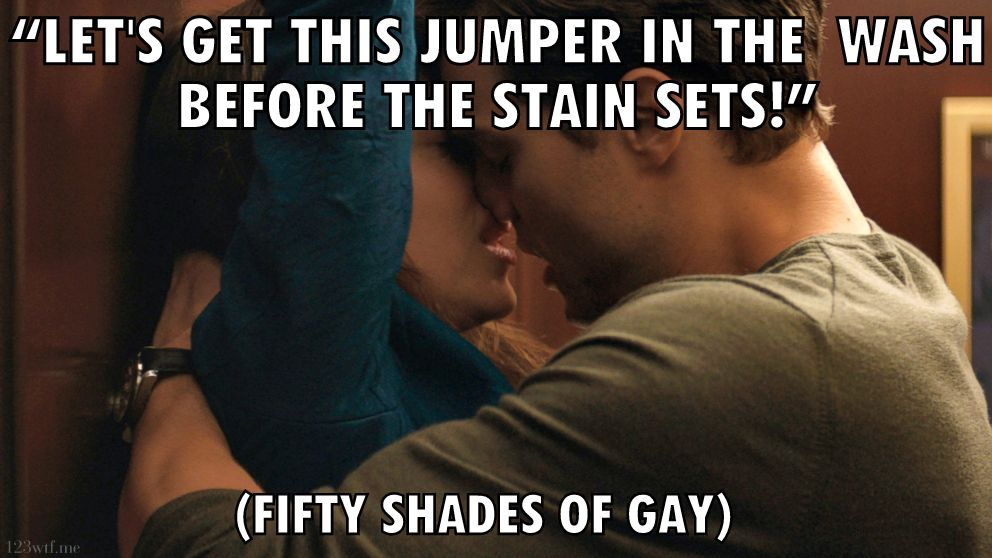Fifty Shades of Grey 30 meme jumper (WTF Watch the Film Saint Pauly)