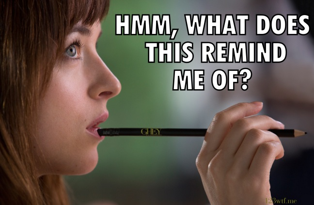 Fifty Shades of Grey 34 meme pencil dick (WTF Watch the Film Saint Pauly)