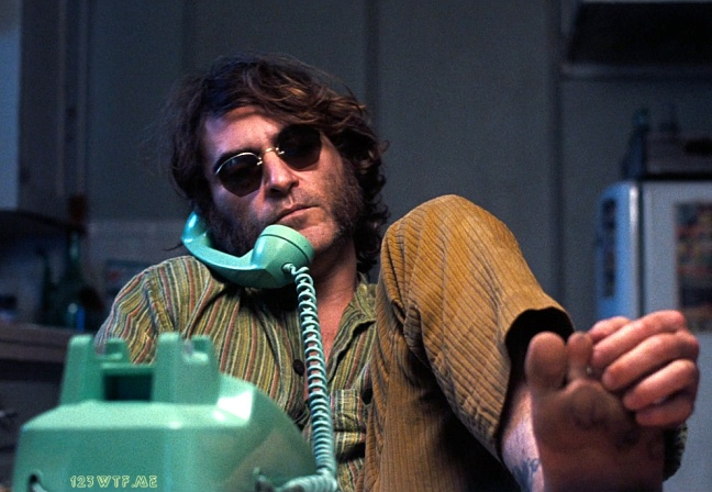 Inherent Vice 15 SC Foot Message (WTF Watch The Film Saint Pauly)