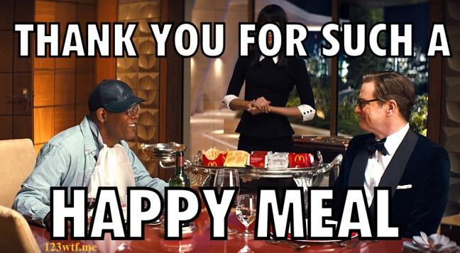 Kingsman 46 Say happy meal (WTF Watch The Film Saint Pauly)