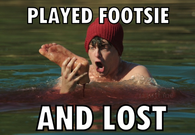Zombeavers 47 Meme Footsie (WTF Watch The Film Saint Pauly)