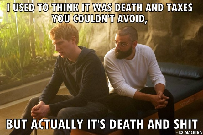 ex machina 27 WTF say death and shit (WTF Watch The Film Saint Pauly)