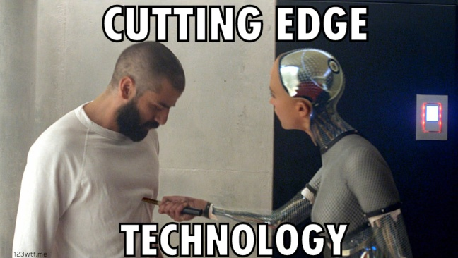 ex machina 28 meme cutting edge (WTF Watch The Film Saint Pauly)