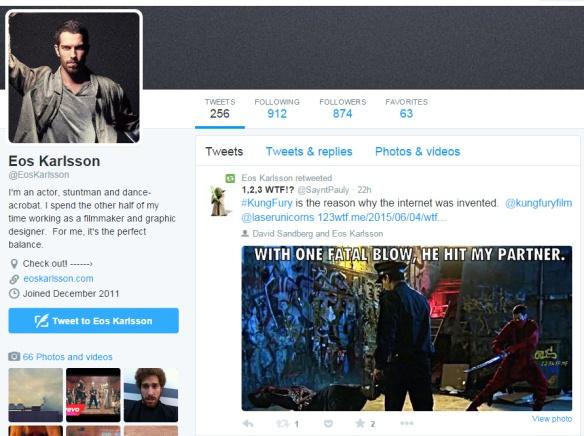 Kung Fury 28 Eos Karlsson retweet (WTF Watch The Film Saint Pauly)