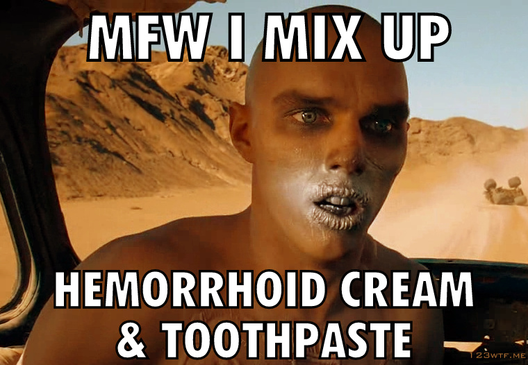Mad Max Fury Road 14 SC MFW I confuse hemmaerhoid cream with toothpaste (WTF Watch The Film Saint Pauly)-002