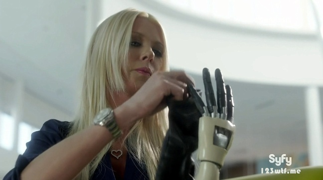 Sharknado 3 11 SC April looks like she needs a hand (WTF Watch The Film Saint Pauly)