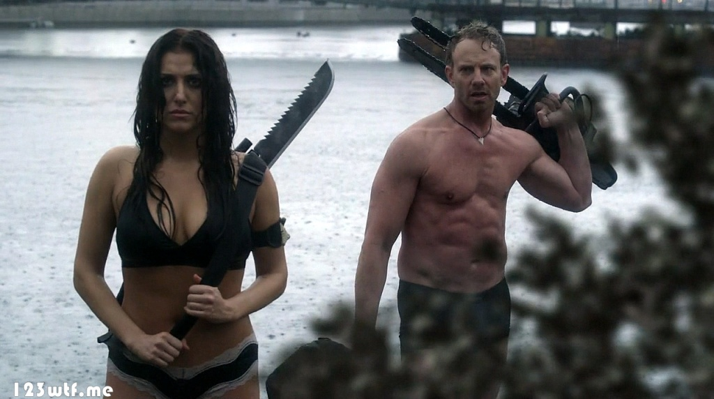 Sharknado 3 13 SC Their wardrobes match their head contents (WTF Watch The Film Saint Pauly)