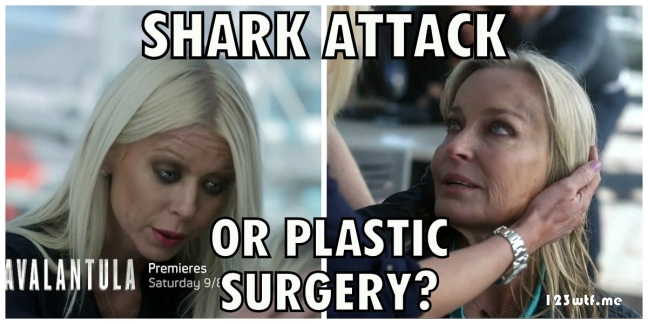 Sharknado 3 26 meme shark attack or plastic surgery (WTF Watch The Film Saint Pauly)
