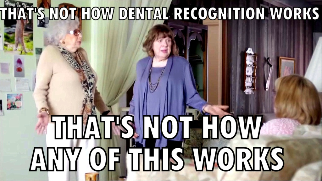 The Town That Dreaded Sundown 21 meme dental recognition (WTF Watch The Film Saint Pauly)