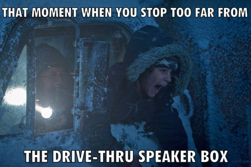 Krampus 46 meme drive-thru (WTF Watch The Film Saint Pauly)