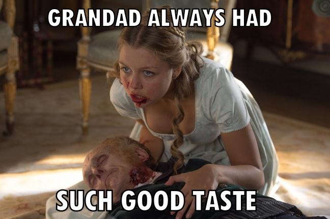 Pride & Prejudice & Zombies 37 meme granddad (WTF Watch The Film Saint Pauly)
