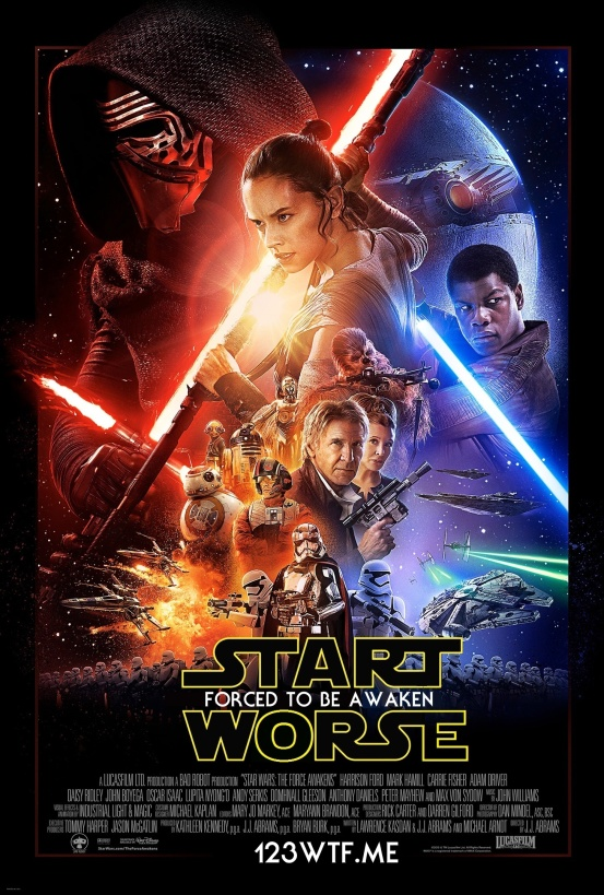The Force Awakens 01 poster (WTF Watch The Film Saint Pauly)