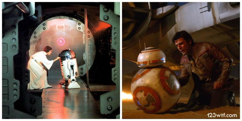 The Force Awakens 06 Collage Leia BB-8 (WTF Watch The Film Saint Pauly)