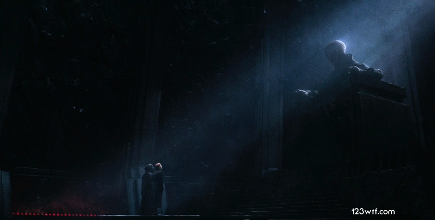 The Force Awakens 27 cinematography Snoke, Ren, Hux (WTF Watch The Film Saint Pauly)