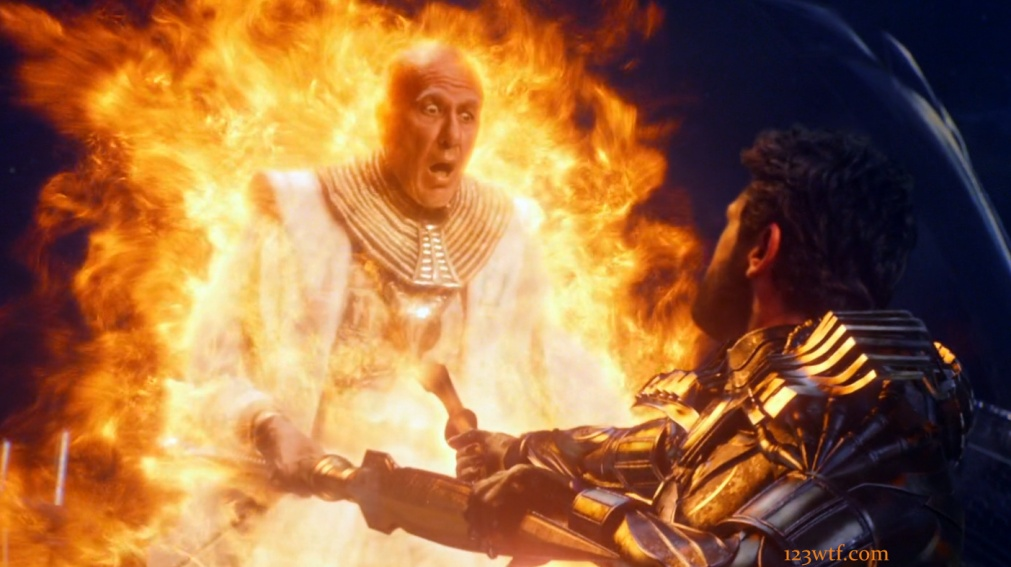 Gods of Egypt 31 SC Set fires his dad (WTF Watch The Film Saint Pauly)