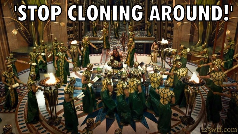 Gods of Egypt 40 meme Stop cloning around (WTF Watch The Film Saint Pauly)