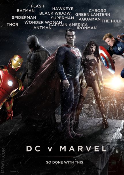 Batman v Superman 01 poster WTF Watch The Film Saint Pauly