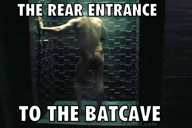 Batman v Superman 93 meme Rear entrance to the Bat cave WTF Watch The Film Saint Pauly