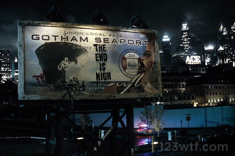 Batman v Superman 96 SC Billboard WTF Watch The Film Saint Pauly