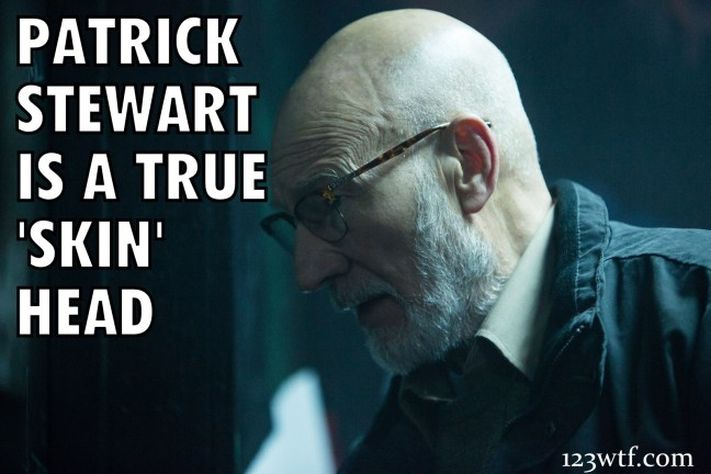 Green Room 43 meme Patrick Stewart is a skin head WTF Watch the Film Saint Pauly