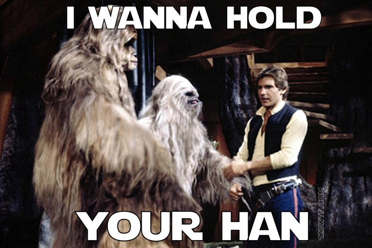 Star Wars Holiday Special 32 meme I wanna hold your Han 123WTF Saint Pauly