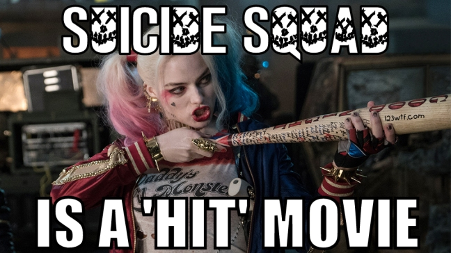 Suicide Squad 69 Meme Suicide Squad is a hit movie 123wtf Watch the Film Saint Pauly