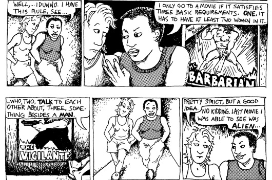 Death Race 2050 33 Alison Bechdel's comic strip Dykes To Watch Out For 123wtf Saint Pauly
