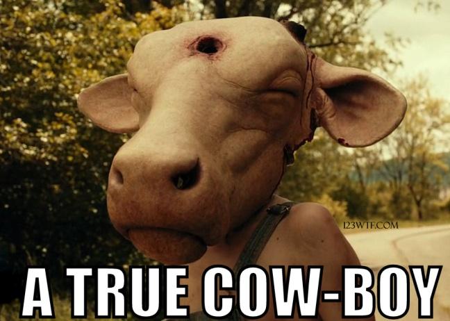 Leatherface 45 meme A true cow-boy 123WTF Saint Pauly