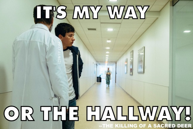 Killing of a Sacred Deer 41 meme My way of the hallway Watch the Film 123WTF Saint Pauly